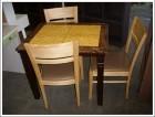 대리석 식탁2인용  의자3개