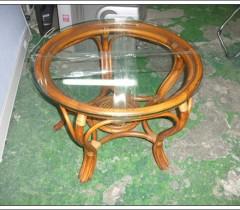 등나무원형탁자